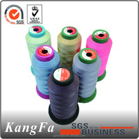 KANGFA Popular bleach white polyester sewing thread made in China