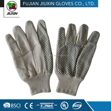 Jiuxin straight thumb Drill cotton white safety hand gloves