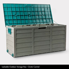 Garden tool storage box shed