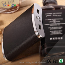 New design fast speed high capacity Wine bottle dual usb portable power bank 10800 mah for tablets,laptop,iphone