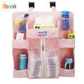 Encai Baby Item Hanging Organizer Bag Baby Crib Side Diaper Storage Bag With Compartment