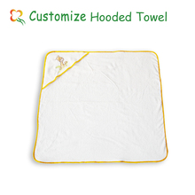 hot sell animal baby cotton hooded towel