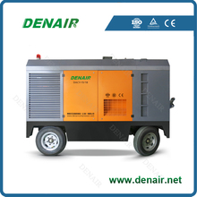 8 bar diesel mobile air compressor trailer mounted