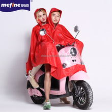 high quality motorcycle raincoat for two people riding raincape