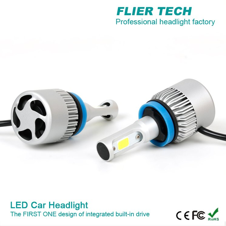 cheap 6g headlight led car with Japan fan for H4 H3 H4 H7 H11 881 9004 bus headlight