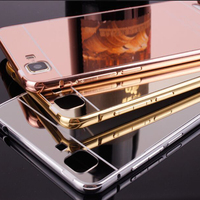 Best selling metal frame mirror cell phone case cover for vivo x5 max