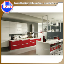 Zhihua high glossy modern lacquer kitchen wall hanging cabinet design for kitchen furniture