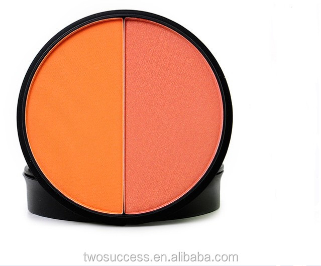 New Style Personal Cosmetic Waterproof Double Color Powder Blush