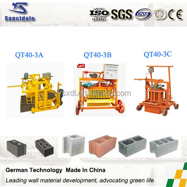 building material making machine Concrete block making machine/new technology product in china