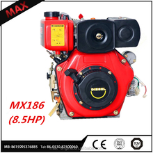 406cc 8.5HP 4-stroke Model 186f Diesel Engine For Sale