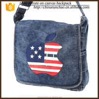 walking shoulder bag us flag shoulder cowboy canvas sing sling backpack foldable messenger for camping