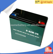 Powerful sealed lead-acid battery 12v 20ah electric bike battery 6dzm20