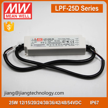 25W 12V 2.1A Hight Power LED Driver Meanwell LPF-25D-12 Projector Power Supply