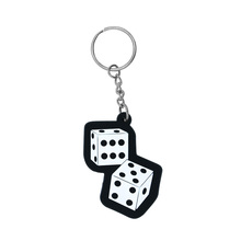 Custom Shaped Promotional PVC key chain, 2D PVC key chain, Cartoon rubber key chain