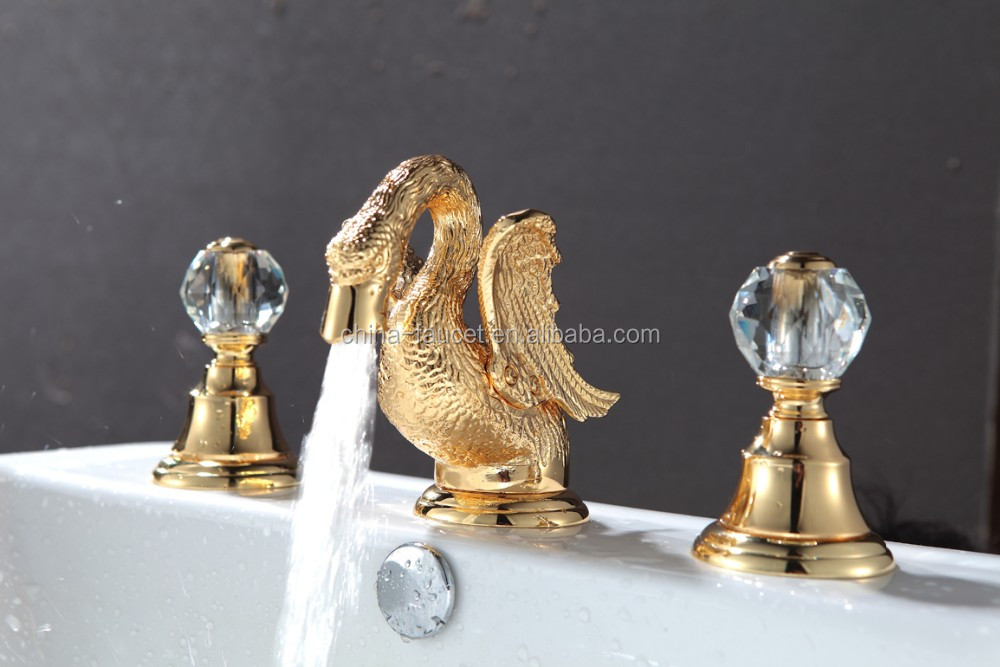 Golden Basin Mixer Brass Animal Faucet For Bathroom Sink