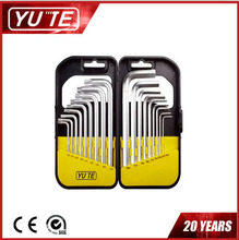 2017 Yute 18PCS long arm torx allen wrench with many specifications&box allen key&hex key set