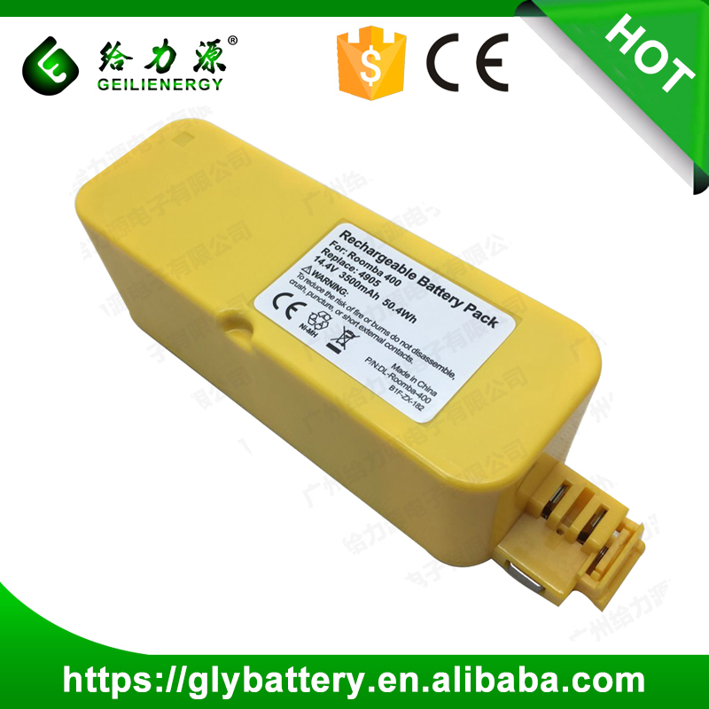 14.4v 4905 Replacement Battery For Vacuum Cleaner Roomba 400 405 410 415 416 418
