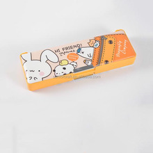 good quality double layers cute animals new design pencil cases for kids DMS035