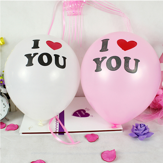 12inch I LOVE YOU  Latex Balloons Globos balloons For  Wedding Decorations wedding balloon   Inflatable Air Balloon Classic Toy