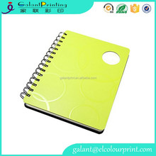 Professional Plastic Spirals Diary Note Book For Student OEM Print PP Cover Coil Bound Notebook