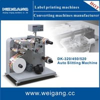 Label paper slitting and rewinding machine