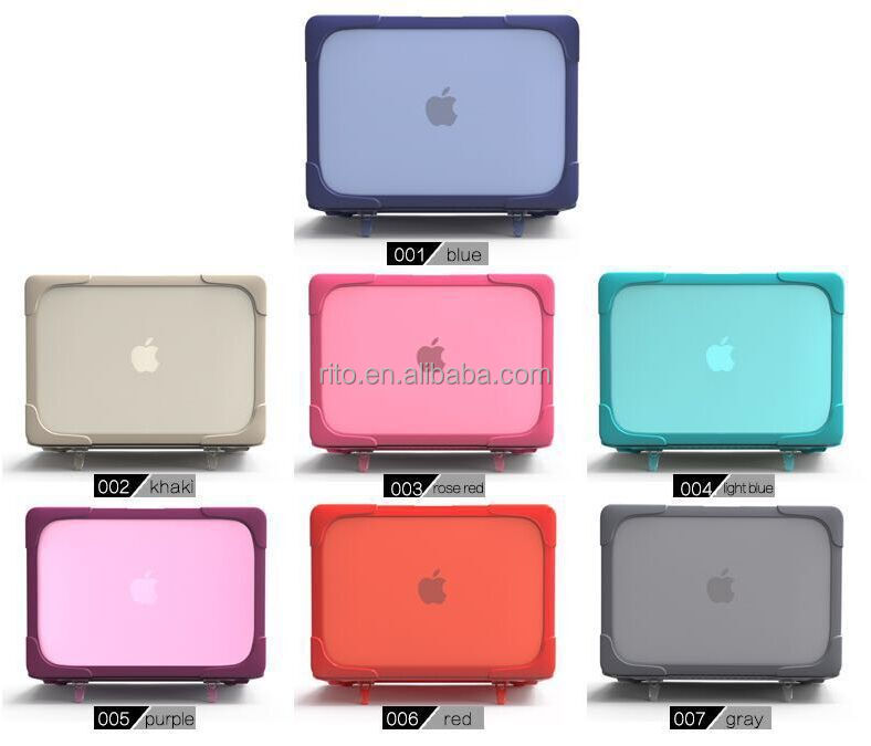 Matte Hard Case For Macbook Air 13 inch with Plastic Stand 7 colors option