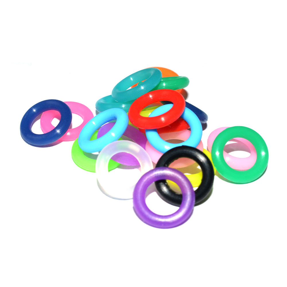 bracelet seal Stock Good price different color 6*2mm <strong>silicone</strong> o ring
