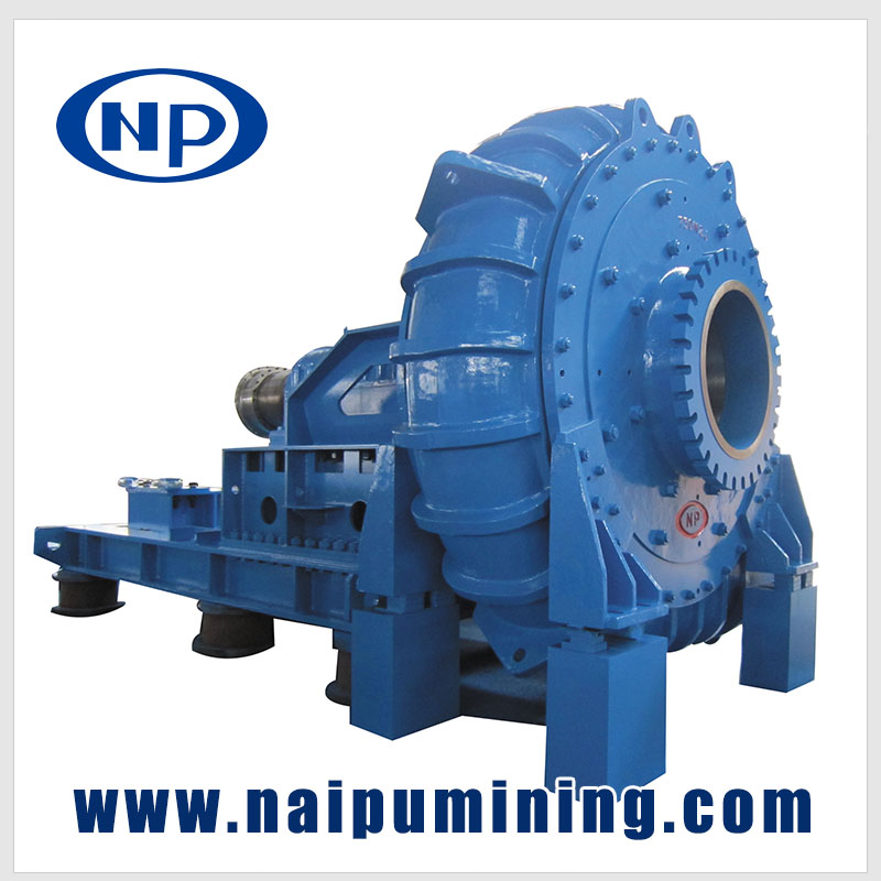 Horizontal centrifugal slurry pump for mining tailing process