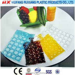 Sample free customized disposable self sealing ice cube bags for food