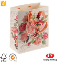 Fancy paper shoping bag paper gift bag with full color printing