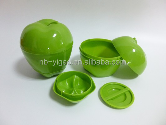 103365 Plastic Apple Shaped Saver/apple fresh box/apple container for promotion