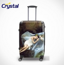 Hot Sale 8 Wheels PC Light Weight Luggage Travel Luggage Sets/ABS+PC Printed Colorful Luggage Trolley Sets with Cheaper Price