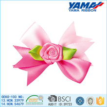 Polyester satin ribbon baby hair bows for sale