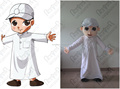 custom white dress boy mascot costume