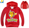 pokemon clothing hoodie sweatshirt unisex warm fleece long sleeve