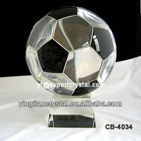 AAA quality crystal soccer ball trophy