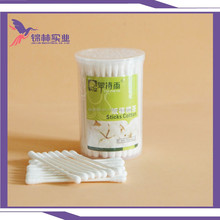 100pcs for a pp box paper stem cotton buds