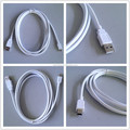 High speed white Color Mini USB cable Shielded twisted pair mini B 5pin usb cable