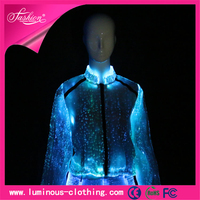 latest fiber optic clothing luminous led coat fashion designs for women