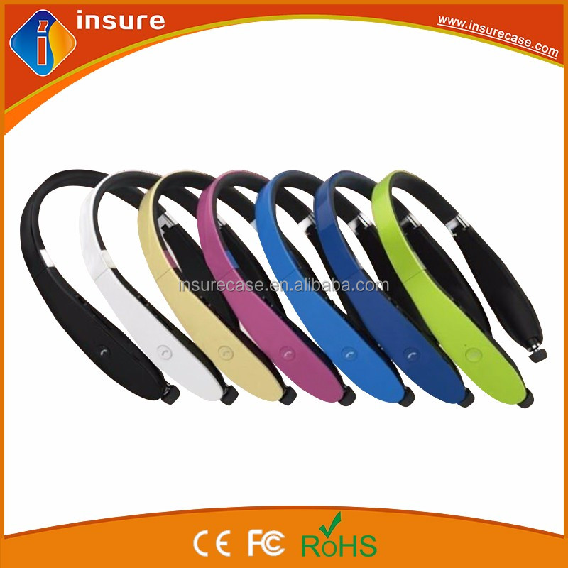 2016 best sell folded retractable bluetooth 4.1 wireless neckband stereo Bluetooth headset headphone earphone earbuds