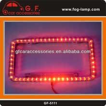 Universal 12v 48 Red LED Lighting Acrylic Plastic License Plate Cover Frame