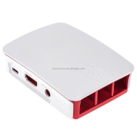Original raspberry pi 2B B+ case red white