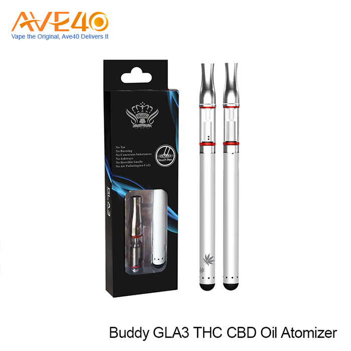 Buddy GLA3 CBD oil THC oil bud touch cartridge 510 glass cbd Oil Vaporizer