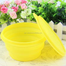 Unbreakable silicone folding bowl microwave safe silicone bowls