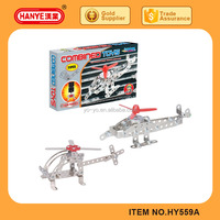 Metal solar assemble plane model toy for child