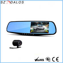 "2017 Newest 4.3"" dual camera lens review mirror dvr for car Full HD 1080P Digital Video Recorder Camcorder Dashcam H702"