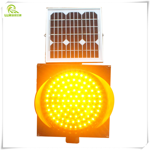 Easy installation traffic safety solar LED warning light