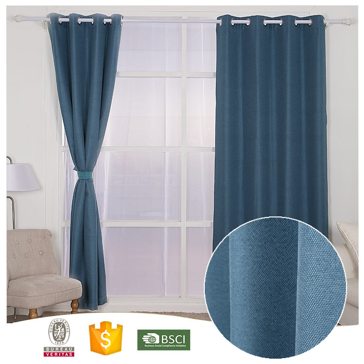 Best Selling Famous Brand Good Looking linen polyester shower curtains