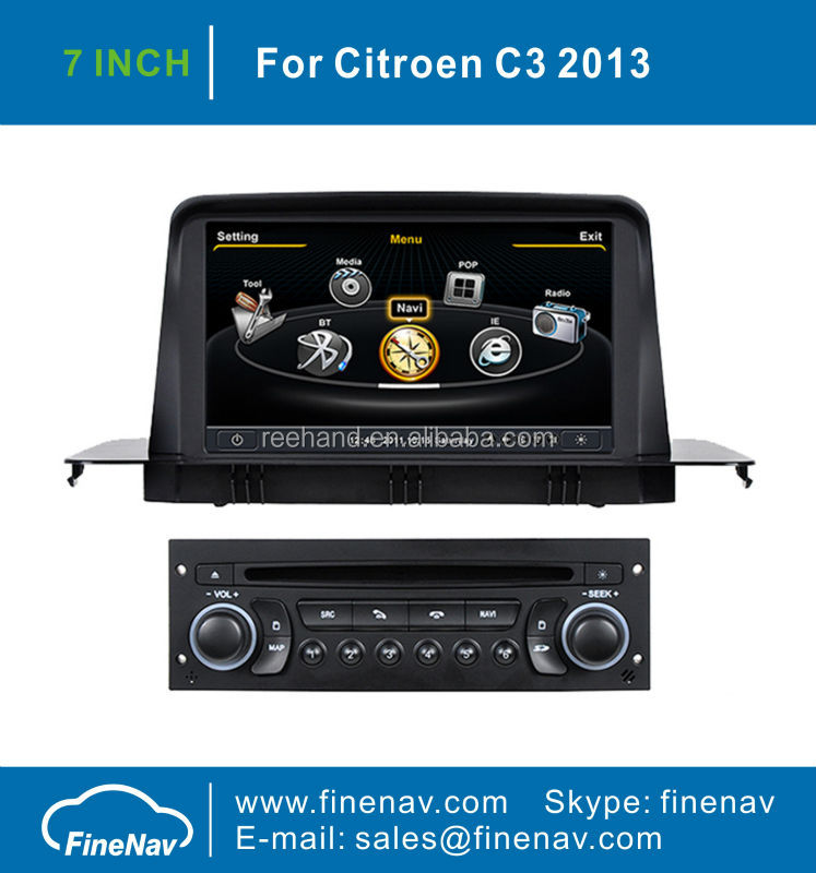 "7"" In Dash Car Stereo GPS for Citroen C3 with Gps Navi,3G,Wifi,A8 Chipset ,Bluetooth,Ipod,Free map Support DVR,DVB-T"
