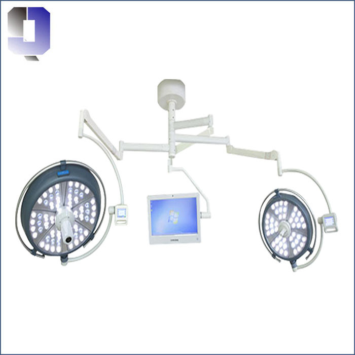 JQ-LED700/700 Twin arms led surgical light with camera and Monitor LCD
